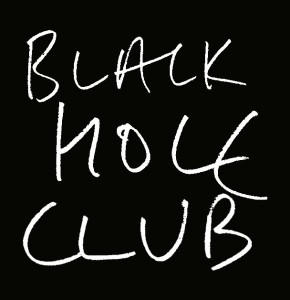 Black Hole Club (white on black)